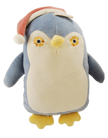 Squeaky Flat Penguin Organic Dog Toy