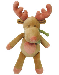 Squeaky Holiday Moose Organic Dog Toy