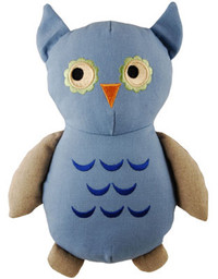 Big Joe Owl Natural Cotton Canvas Dog Toy