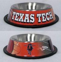 Texas Tech Steel Dog Bowl
