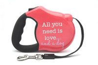 Avant Garde Retractable Dog Leash (All you need is love)