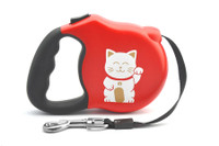 Avant Garde Retractable Dog Leash (Lucky Cat)
