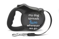 Avant Garde Retractable Dog Leash (Spread Love)