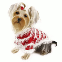 Furry and Sparkling Trims Sweater