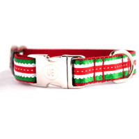 Holiday Scalloped Dog Collar & Lead