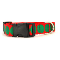 Holiday Dot Dog Collar