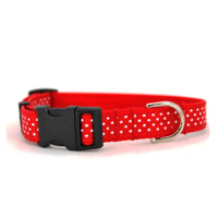 Red Swiss Dot Collar