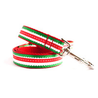 Holiday Scalloped Dog Lead
