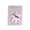 Grey + Pink Bear