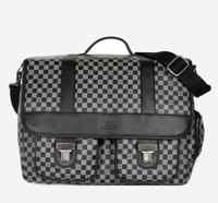Dogs of Glamour Luxe Check Messenger