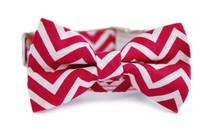 Roseate Chevron Bow Tie