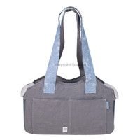 Louisdog Denim Strap Linen Bag