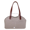 Louisdog Leather Strap Linen Bag