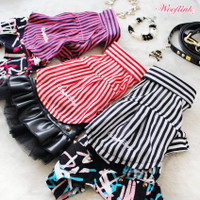 Wooflink Striped Dog Shirt