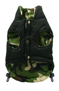 Black Camo Reversible Puffer Vest