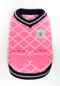 Royal Crest Pink Sweater Vest