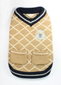 Royal Crest Tan Sweater Vest