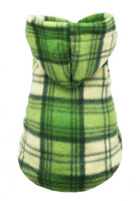 Green Plaid Polar Fleece Hoodie