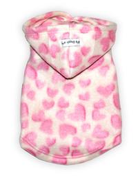 Pink Heart Fleece Hoodie