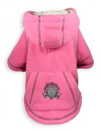 Crest Pink Fleece Hoodie
