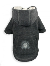 Crest Grey Fleece Hoodie