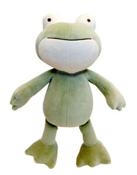 Large Eddie Frog Organic Dog Toy