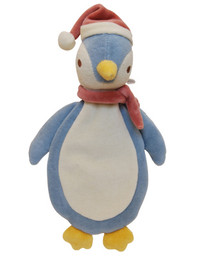 Holiday Stuffless Penguin Organic Dog Toy