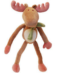 Holiday Moose Organic Dog Toy with Movable Limbs (New Face)