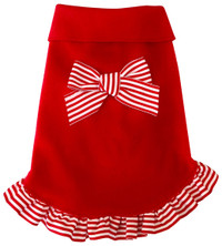 Candy Cane Ruffle Red Pullover