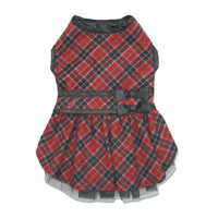 Elements Red Diamond Plaid Dresses