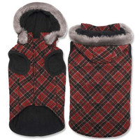 Elements Red Diamond Plaid Coat