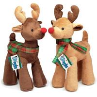 Radiant Tartan Reindeer Toys