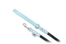 "Buddy Belt Leather Dog Leash - Leather/Nylon - Baby Blue - 1/2"" wide"