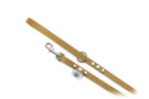 "Buddy Belt Leather Dog Leash - All Leather - Caramel - 1/2"" wide"