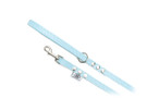 "Buddy Belt Leather Dog Leash - All Leather - Baby Blue - 1/2"" wide"