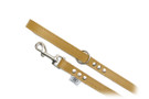 "Buddy Belt Leather Dog Leash - All Leather - Caramel - 3/4"" wide"