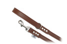 "Buddy Belt Leather Dog Leash - All Leather - Bark Brown - 3/4"" wide"