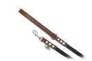 "Buddy Belt Leather Dog Leash - Leather/Nylon - Dark Brown - 1/2"" wide"