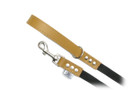 "Buddy Belt Leather Dog Leash - Leather/Nylon - Caramel - 3/4"" wide"