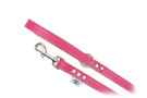 "Buddy Belt Leather Dog Leash - All Leather - Hot Pink - 3/4"" wide"