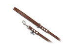 "Buddy Belt Leather Dog Leash - All Leather - Bark Brown - 1/2"" wide"