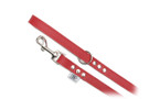 "Buddy Belt Leather Dog Leash - All Leather - Red - 3/4"" wide"