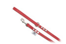 "Buddy Belt Leather Dog Leash - All Leather - Red - 1/2"" wide"