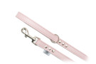 "Buddy Belt Leather Dog Leash - All Leather - Baby Pink - 3/4"" wide"