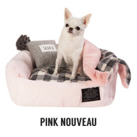 Louisdog Furry Boom/Pink Nouveau Bed