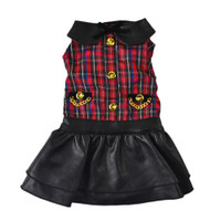 Dogs of Glamour Plaid Skirt Dress