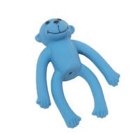 "Li'l Pals® 4"" Latex Monkey Dog Toy - Blue"