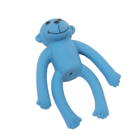 "Li'l Pals® 4"" Latex Monkey Dog Toy - Blue"