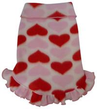 Hearts Fleece Ruffle Pullover