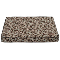 Flocked Memory Foam Pillow Dog Bed